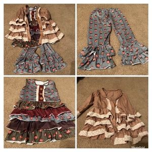 Other - Girls boho outfit EUC super cute! Size 4